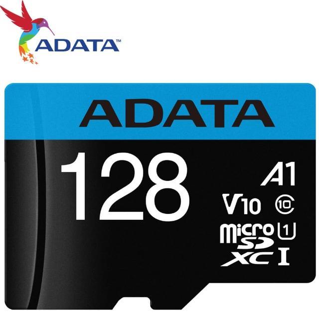 【ADATA 威剛】128GB 85MB/s microSDXC TF UHS-I U1 A1 V10 記憶卡
