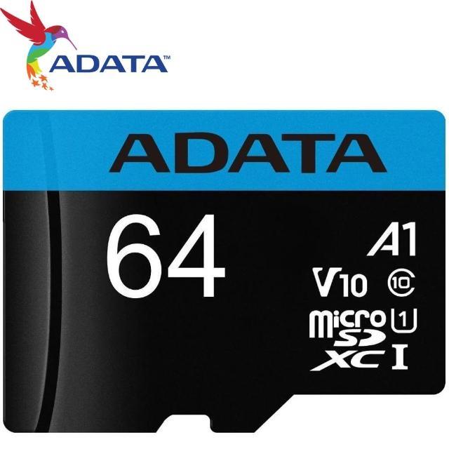 【ADATA 威剛】64GB 85MB/s microSDXC TF UHS-I U1 A1 V10 記憶卡