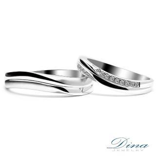 【DINA 蒂娜珠寶】『愛戀之心』 鑽石情侶結婚對戒(對戒 系列)