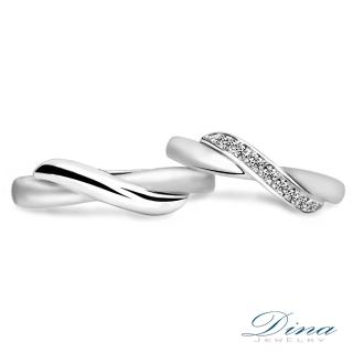 【DINA 蒂娜珠寶】『纏綿』 鑽石情侶結婚對戒(對戒 系列)