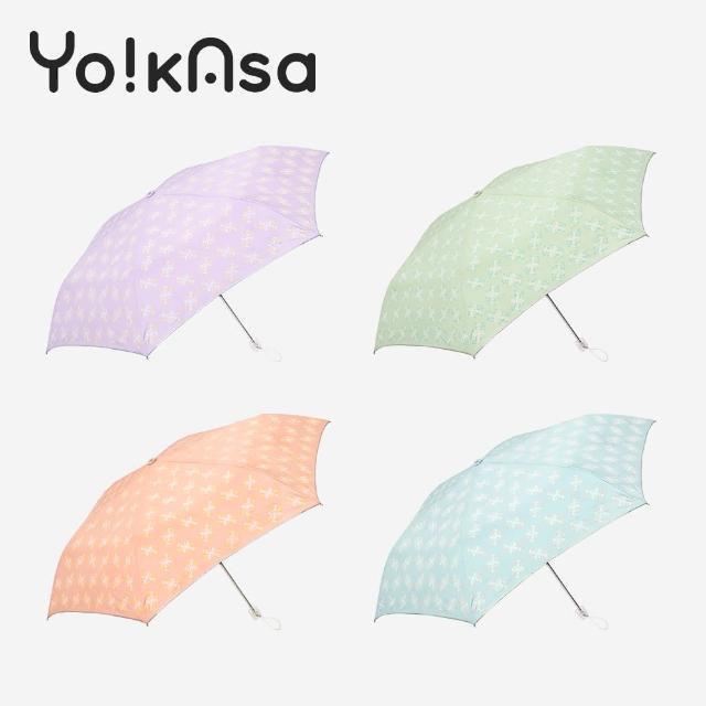 【Yo!kAsa】防曬日系花漾手開折傘