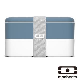 【MONBENTO】雙層餐盒-牛仔藍/白(MB-120002120)