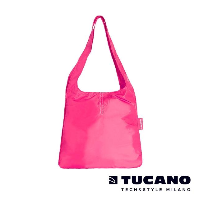 【TUCANO】COMPATTO 超輕量折疊收納簡便購物袋(粉紅)