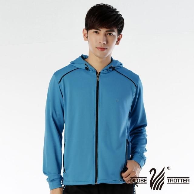 【遊遍天下】MIT台灣製男版連帽抗UV透氣吸濕排汗機能外套112-1寶藍(L-XL)