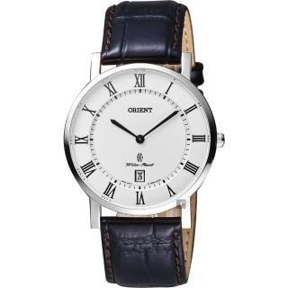 【ORIENT 東方錶】羅馬復刻手錶-白x咖啡/38mm(FGW0100HW)