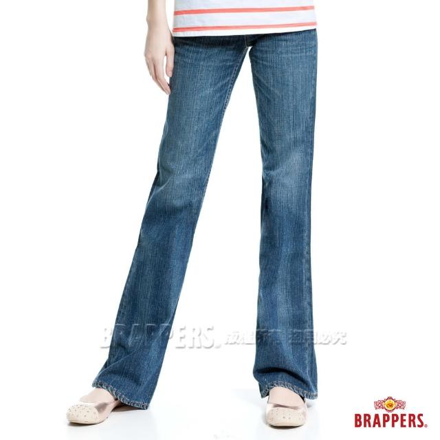 【BRAPPERS】女款 個性系列-漸層洗色大喇叭褲(淺藍)