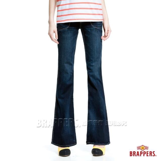 【BRAPPERS】女款 個性系列-純棉漸層洗色大喇叭褲(經典藍)