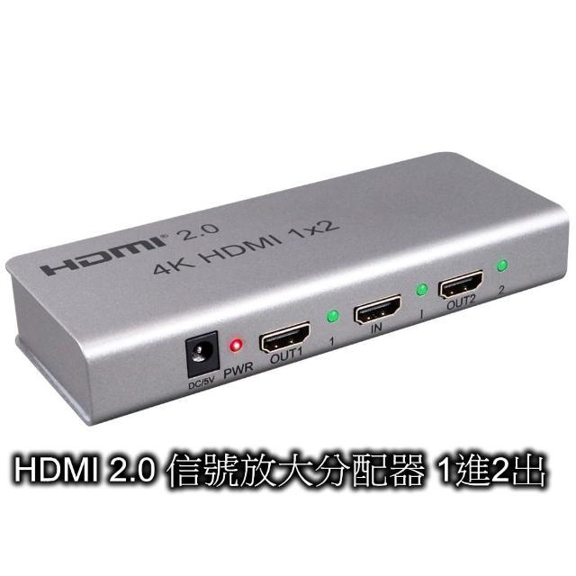 【伽利略】HDMI 2.0 信號放大分配器 1進2出(HDS402A)