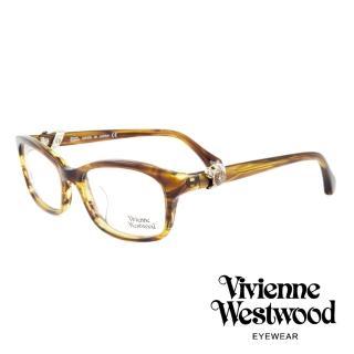 【Vivienne Westwood】英國薇薇安魏斯伍德龐克立體土星環光學眼鏡(琥珀/銀 VW324M02)