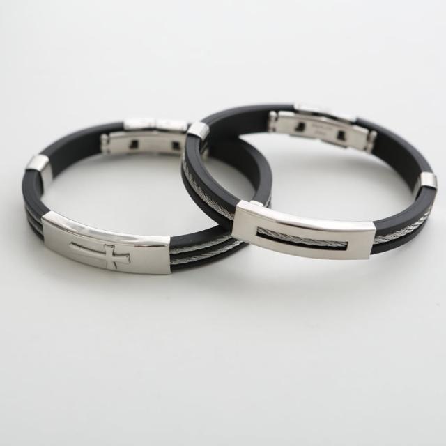 【玖飾時尚】西德316L鋼製經典個性鋼索手環(手環)