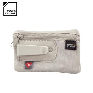 【LEWIS N CLARK】RFID屏蔽扣夾零錢包 1234(防盜錄、錢包、腰包、旅遊配件、美國品牌)
