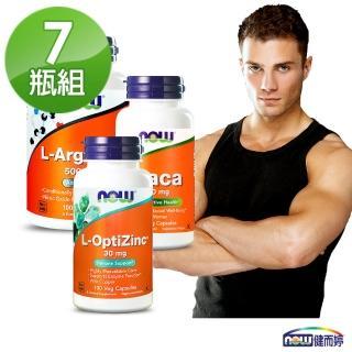 【NOW健而婷】頂天衝刺套組(瑪卡MACAX3+精胺酸一氧化氮X3+鋅X1)