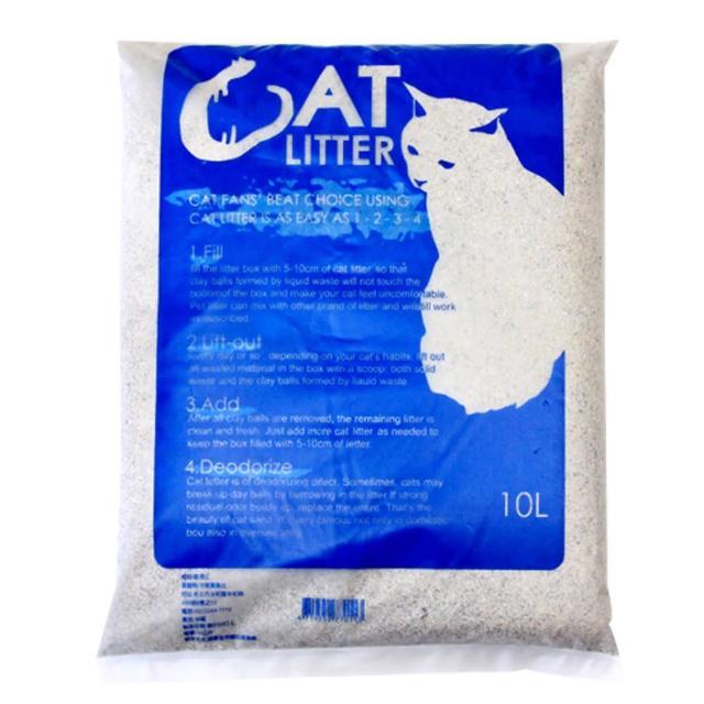 【Cat Litter】藍袋貓砂10L-4包組(2種香味可選擇)