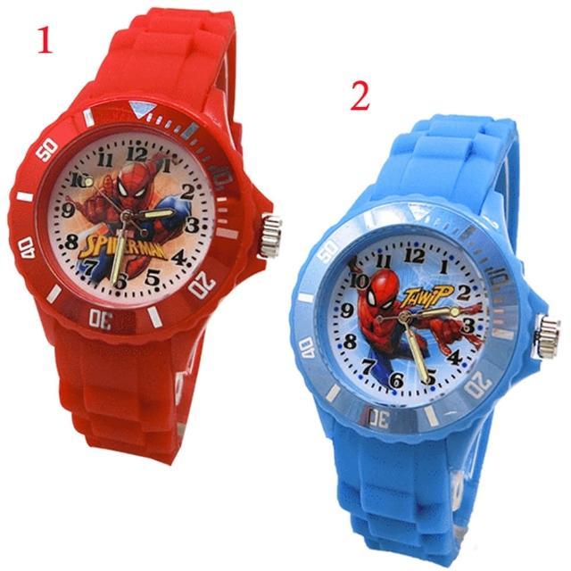 【TDL】漫威英雄蜘蛛人兒童手錶運動錶卡通錶 2選1 67783713