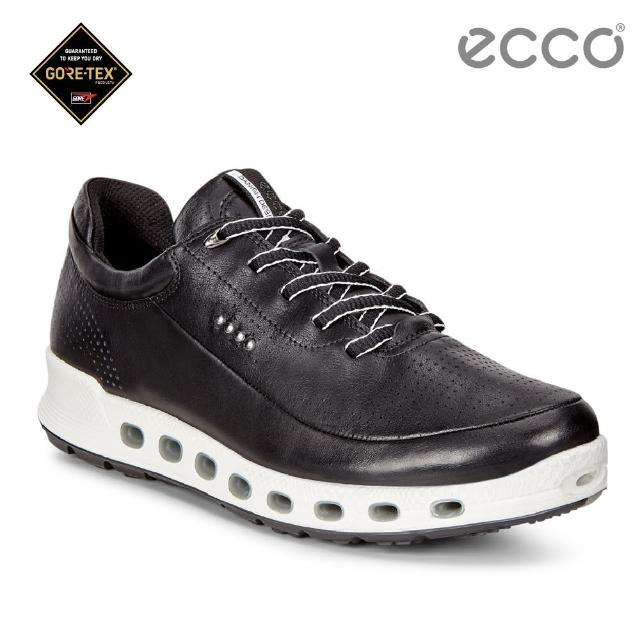 【ecco】COOL 2.0 360度環繞防水休閒運動鞋(黑 84251301001)