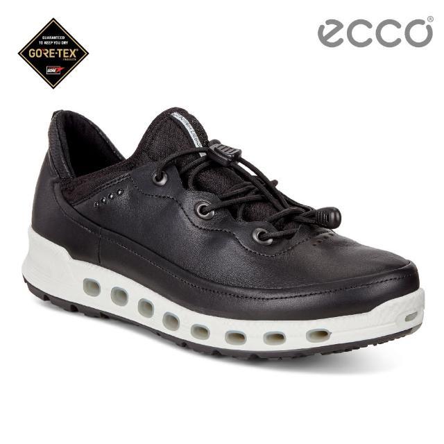 【ecco】COOL 2.0 360度環繞防水休閒運動鞋(黑 84254301001)