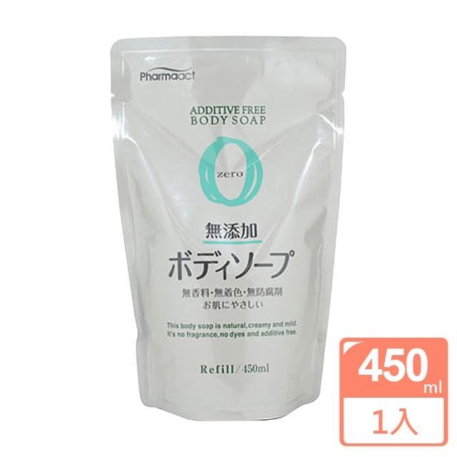 日本熊野無添加沐浴乳補充包450ML(zero)