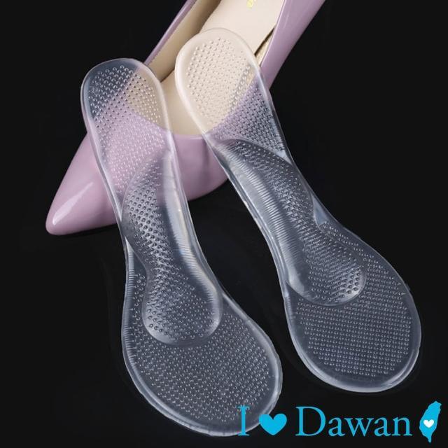 【IDAWAN 爱台湾】矽胶透明加厚按摩七分垫(1对入)