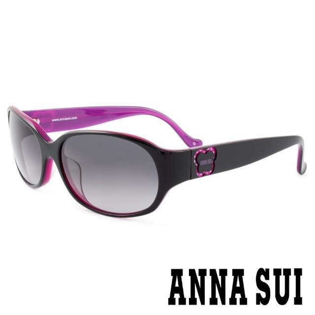 【ANNA SUI 安娜蘇】香氛花園簡約薔薇造型太陽眼鏡(黑紫 -AS818M007)