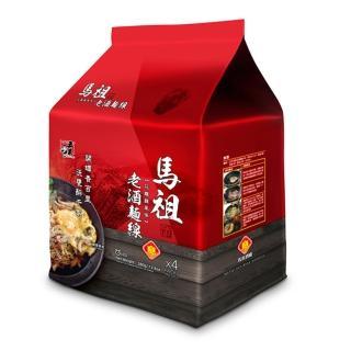 【五木】馬祖酒廠老酒麵線4入袋裝(花雕雞風味)
