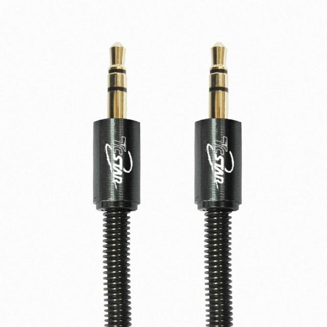 【T.C.STAR】鋁合金3.5mm彈簧音源傳輸線-1.2M 二色選擇(TCW-AV006)