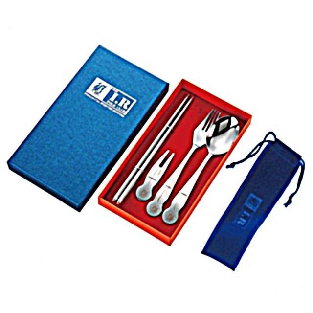 【I.R POLO】四件式餐具組附餐具套SF05A(四件式餐具組)