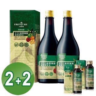 【大漢酵素】V52蔬果植物醱酵液2+2組(600mlx2+60mlx2)