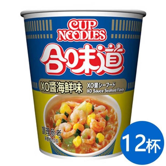 【NISSIN 日清】合味道 XO醬海鮮味杯麵 70g*12杯(日清泡麵)