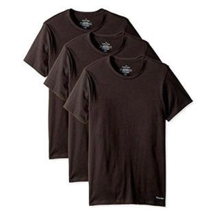 【Calvin Klein】2018男時尚黑色圓領短袖內衣3件組-網(預購)