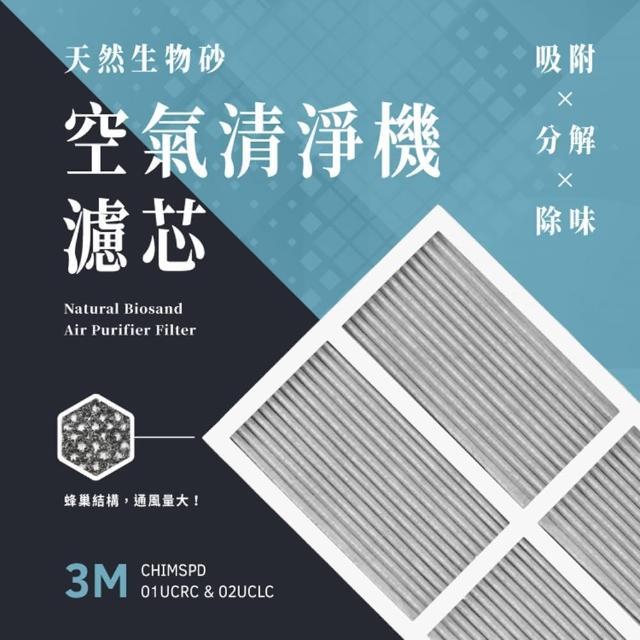 【無味熊】日本生物砂3M空氣清淨機專用濾網(CHIMSPD - 01UCRC、02UCLC適用)