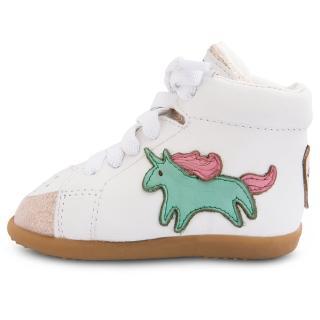 【shooshoos】安全無毒真皮健康手工學步鞋/童鞋_童趣獨角獸_SS103395(公司貨)