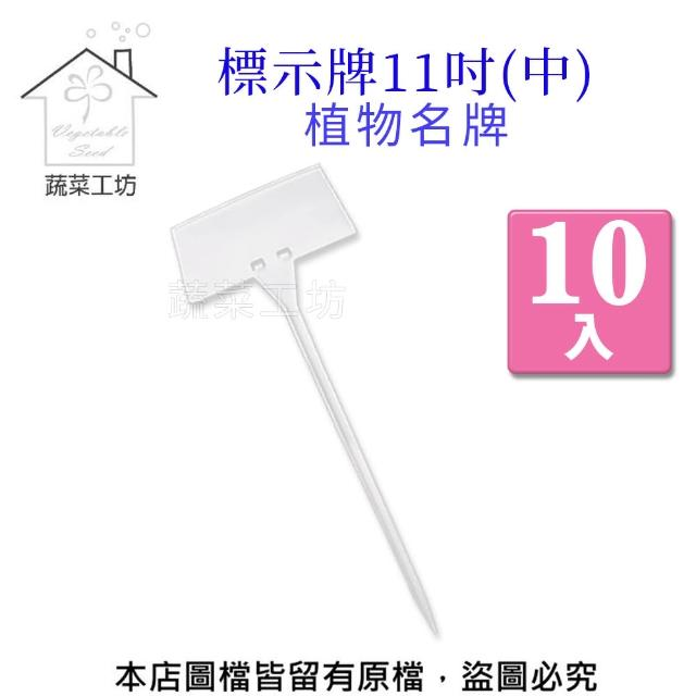 【蔬菜工坊011-A37-11-1】標示牌11吋-10入/組(中)