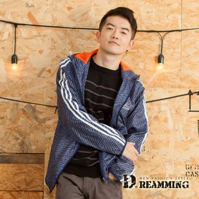 【Dreamming】美系混色透氣網布休閒連帽運動風衣外套(共二色)