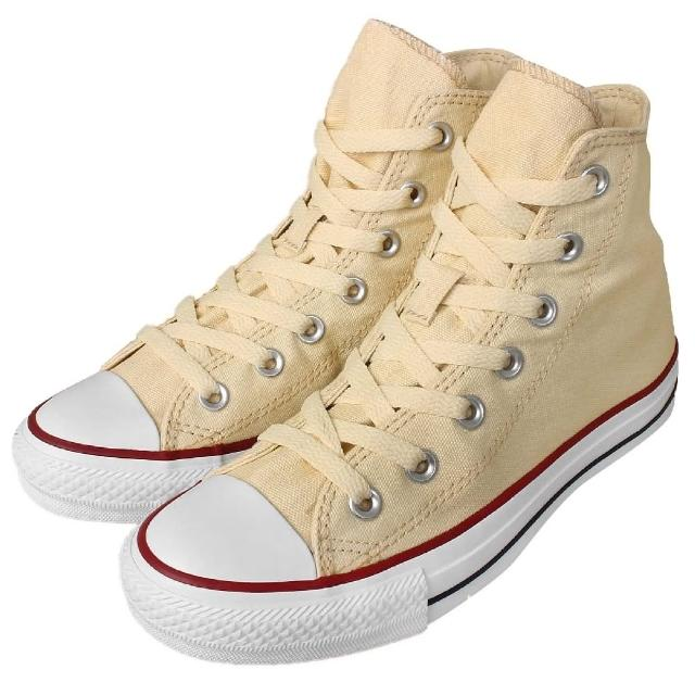 【CONVERSE】休閒鞋 All Star 男鞋 女鞋 復古 帆布 高筒 情侶鞋 基本款 卡其 白(M9162C)