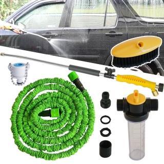 免插電強力高壓清潔水槍+3公尺伸縮水管