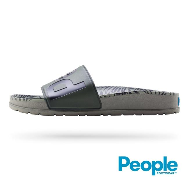 【People Footwear】The Lennon Slide - 棕旅綠色(Logo拖鞋)
