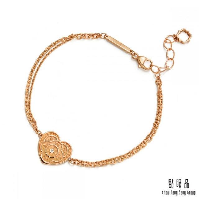 【Emphasis 點睛品】V&A博物館系列 18K玫瑰金鑽石手鍊