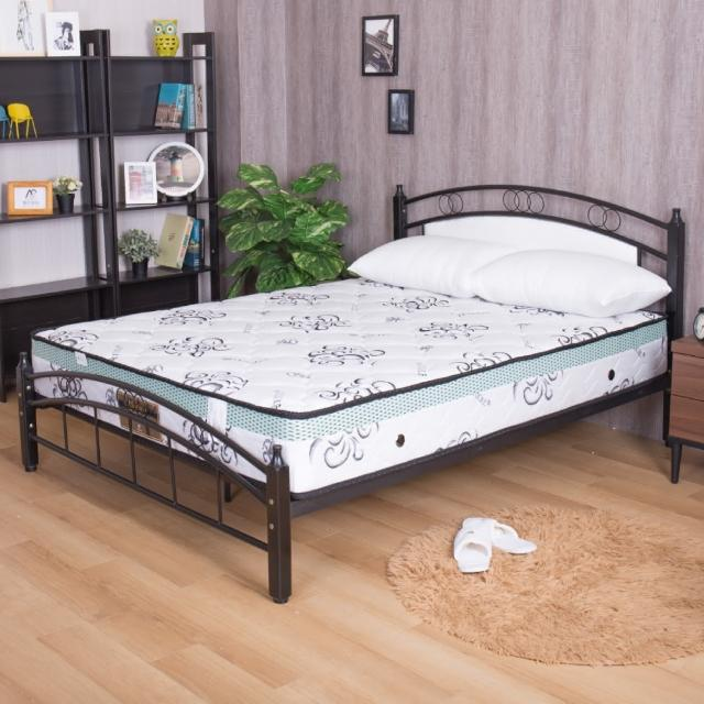 【AS】瑪莉提白金透氣款-天絲布舒眠透氣硬式雙人加大6尺獨立筒床墊/