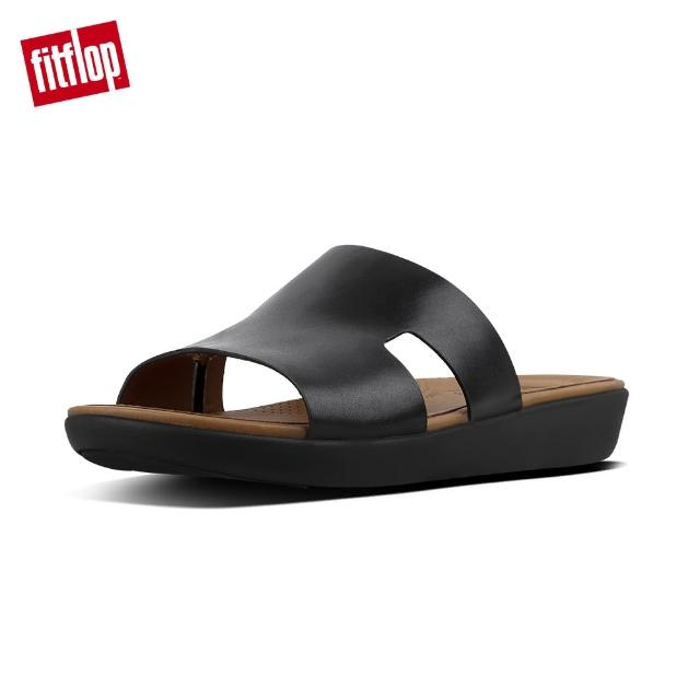 【FitFlop】H-BAR TM SLIDE SANDALS - LEATHER(黑色)