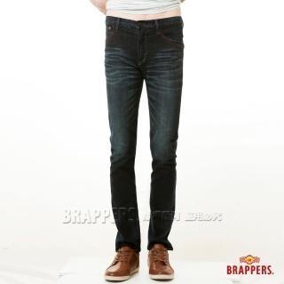 【BRAPPERS】男款 彈性窄版直筒褲(藍)