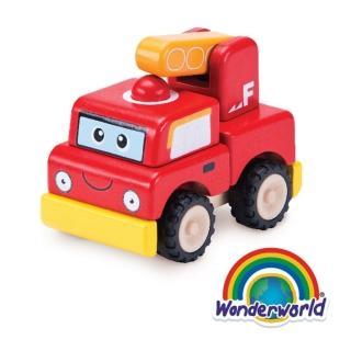 【泰國 Wonder World】歡樂拼裝系列-消防車