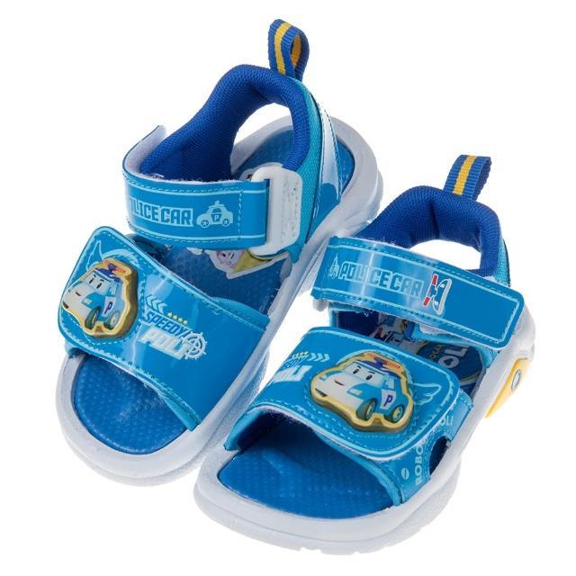 【布布童鞋】POLI救援小英雄波力藍色兒童電燈涼鞋(B8M126B)