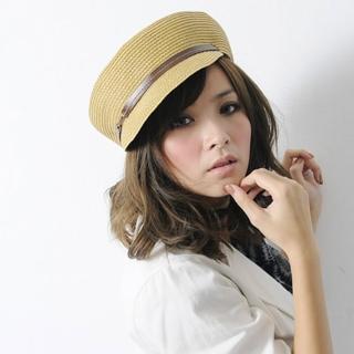 【Lady c.c.】夏風中性編織清涼小帽延軍帽(黃)