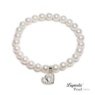 【大東山珠寶】心心相印 純銀晶燦手環(akoya海水珍珠)