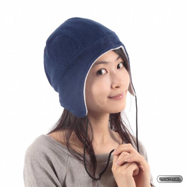 【SNOW TRAVEL】PORELLE防水透氣雙面拉繩帽(藍色)