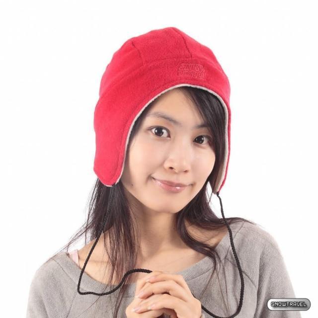 【SNOW TRAVEL】PORELLE防水透氣雙面拉繩帽(紅色)
