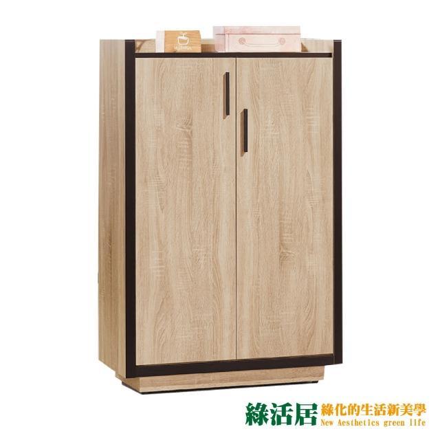 【綠活居】凱蕾  時尚2.6尺木紋二門鞋櫃/玄關櫃
