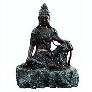 陳昱霖創作系列-銅雕祈願自在觀音