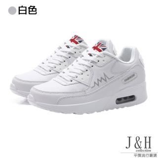 【J&H collection】皮質透氣輕量休閒健走鞋(現+預 白色 / 玫紅 / 黑色)