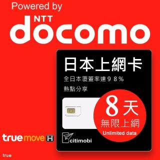 【citimobi】日本上網卡(8天吃到飽)